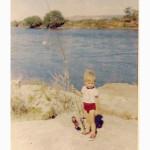 Ruben Martin pescando de bebe