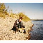 Ruben Martin pescando de joven