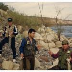 Ruben Martin pescando con su padre