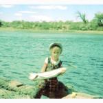 Ruben Martin pescando de niño