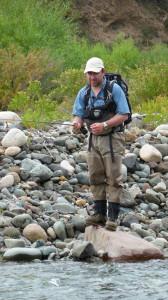 Ruben Martin pescando