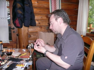 Ruben Martin atando moscas