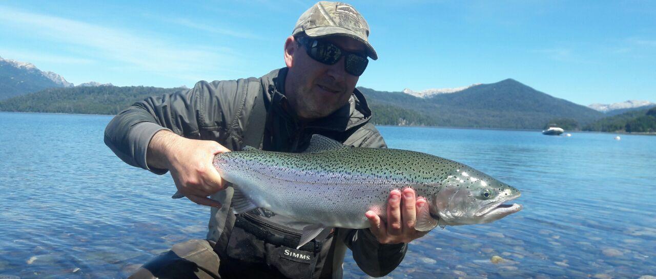 Rainbow trout caught by ruben martin